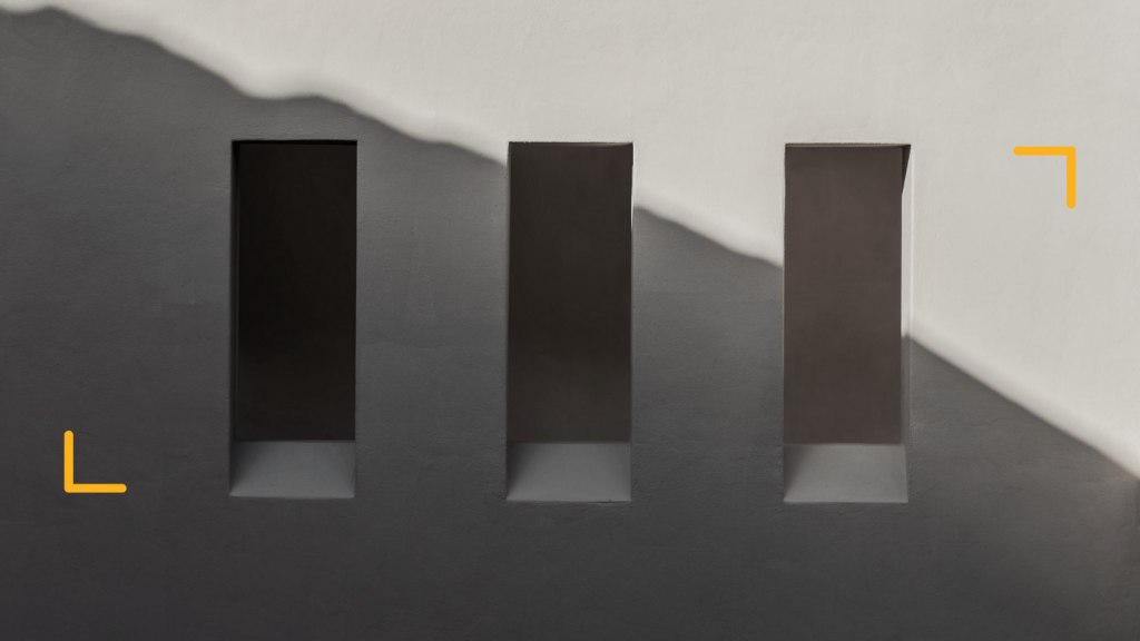 three windows on a blank wall to illustrate the power of 3 perspectives