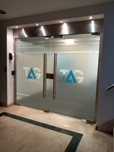 TAG LATAM office doors